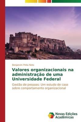 Valores Organizacionais Na Administra O (Paperback)