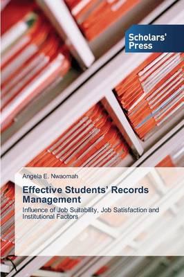 Effective Students' Records Management (Paperback)