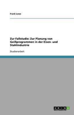 Zur Fallstudie: Zur Planung Von Geissprogrammen in Der Eisen- Und Stahlindustrie (Paperback)