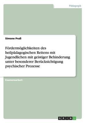 Fordermoglichkeiten Des Heilpadagogischen Reitens Mit Jugendlichen Mit Geistiger Behinderung (Paperback)