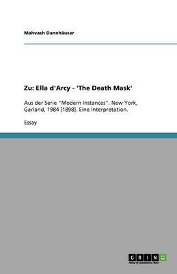 Zu: Ella d'Arcy - 'the Death Mask' (Paperback)