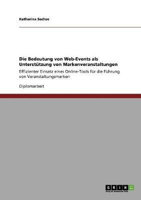 Die Bedeutung Von Web-Events ALS Unterstutzung Von Markenveranstaltungen (Paperback)