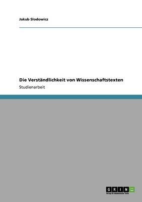 Die Verstandlichkeit Von Wissenschaftstexten (Paperback)