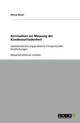 Kennzahlen Zur Messung Der Kundenzufriedenheit (Paperback)