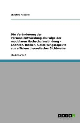 Die Veranderung Der Personalentwicklung ALS Folge Der Modularen Hochschulausbildung - Chancen, Risiken, Gestaltungsaspekte Aus Effizienztheoretischer Sichtweise (Paperback)