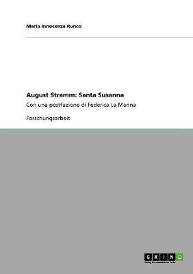 August Stramm: Santa Susanna (Paperback)