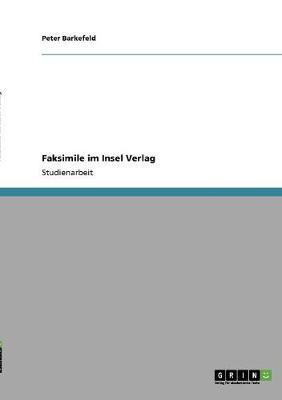 Faksimile Im Insel Verlag (Paperback)