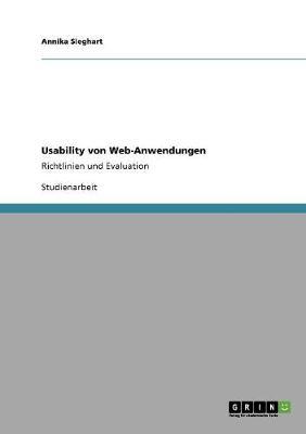 Usability Von Web-Anwendungen (Paperback)