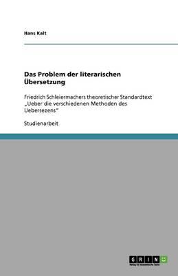 Das Problem Der Literarischen Ubersetzung (Paperback)