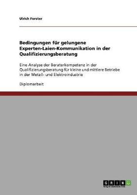 Bedingungen Fur Gelungene Experten-Laien-Kommunikation in Der Qualifizierungsberatung (Paperback)