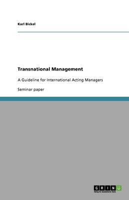 Transnational Management (Paperback)