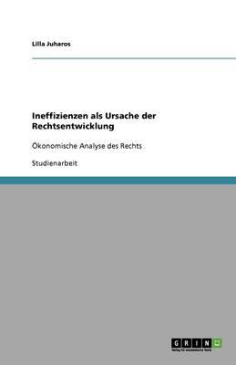 Ineffizienzen ALS Ursache Der Rechtsentwicklung (Paperback)