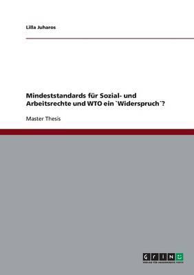 Mindeststandards Fur Sozial- Und Arbeitsrechte Und Wto Ein Widerspruch? (Paperback)