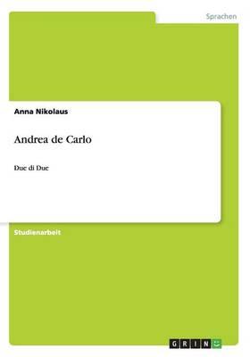 Andrea de Carlo (Paperback)