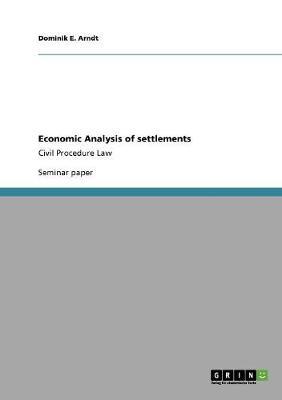 Economic Analysis of Settlements (Paperback)