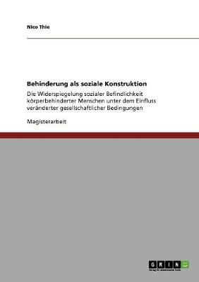 Behinderung ALS Soziale Konstruktion (Paperback)