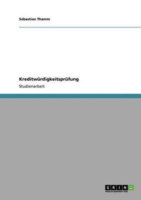 Kreditw rdigkeitspr fung (Paperback)