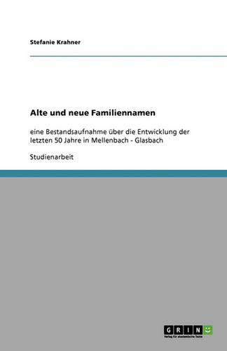 Alte Und Neue Familiennamen (Paperback)