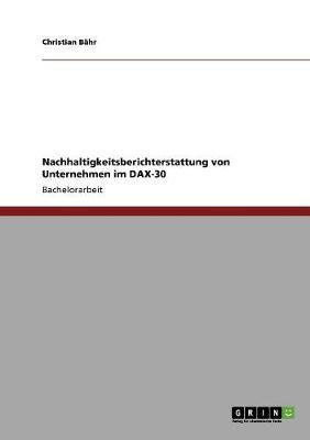 Nachhaltigkeitsberichterstattung Von Unternehmen Im Dax-30 (Paperback)