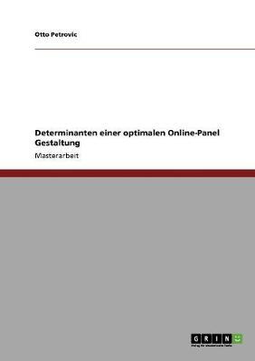 Determinanten Einer Optimalen Online-Panel Gestaltung (Paperback)