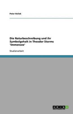 Die Naturbeschreibung Und Ihr Symbolgehalt in Theodor Storms 'Immensee' (Paperback)