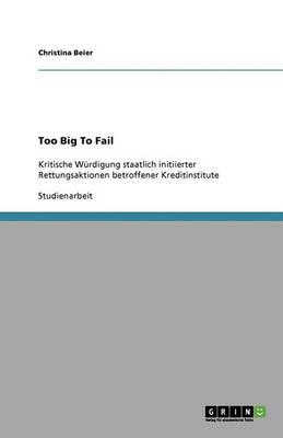 Too Big to Fail (Paperback)