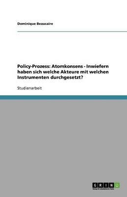 Policy-Prozess: Atomkonsens - Inwiefern Haben Sich Welche Akteure Mit Welchen Instrumenten Durchgesetzt? (Paperback)