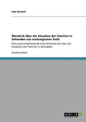 Uberblick Uber Die Situation Der Familien in Schweden Aus Soziologischer Sicht (Paperback)