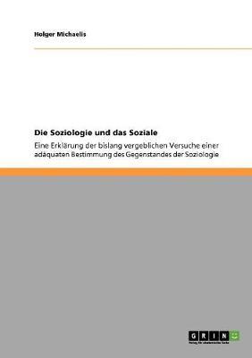 Die Soziologie Und Das Soziale (Paperback)