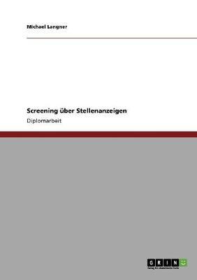 Screening Uber Stellenanzeigen (Paperback)