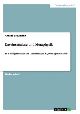 Daseinsanalyse Und Metaphysik (Paperback)
