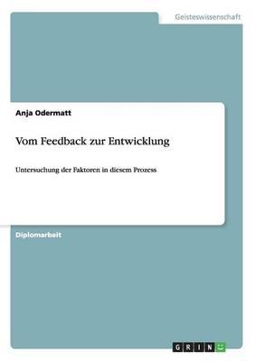 Vom Feedback Zur Entwicklung (Paperback)
