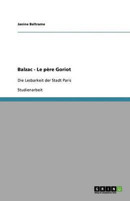 Balzac - Le Pere Goriot (Paperback)