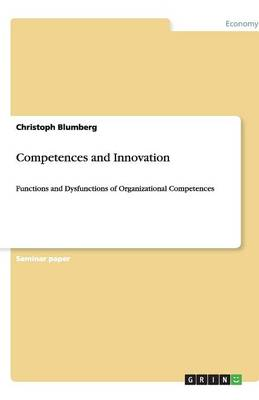 Competences and Innovation (Paperback)