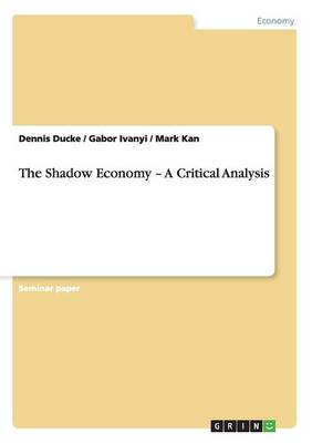 The Shadow Economy - A Critical Analysis (Paperback)