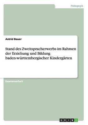 Stand Des Zweitspracherwerbs Im Rahmen Der Erziehung Und Bildung Baden-Wurttembergischer Kindergarten (Paperback)