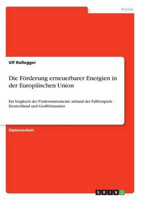 Die Forderung Erneuerbarer Energien in Der Europaischen Union (Paperback)