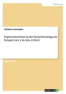 Expertensysteme in Der Steuerberatung Am Beispiel Des 8a ABS. 6 Kstg (Paperback)
