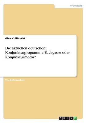 Die Aktuellen Deutschen Konjunkturprogramme: Sackgasse Oder Konjunkturmotor? (Paperback)