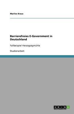 Barrierefreies E-Government in Deutschland (Paperback)