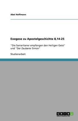 Exegese Zu Apostelgeschichte 8,14-25 (Paperback)