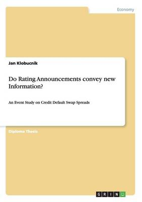 Do Rating Announcements Convey New Information? (Paperback)