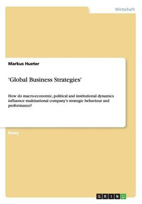 'global Business Strategies' (Paperback)
