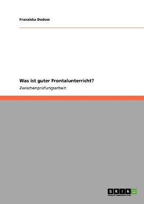 Was Ist Guter Frontalunterricht? (Paperback)