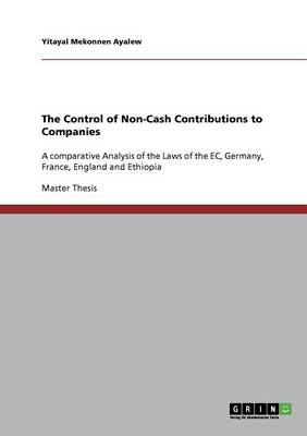 The Control of Non-Cash Contributions to Companies (Paperback)