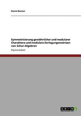Symmetrisierung Gewohnlicher Und Modularer Charaktere Und Modulare Zerlegungsmatrizen Von Schur-Algebren (Paperback)