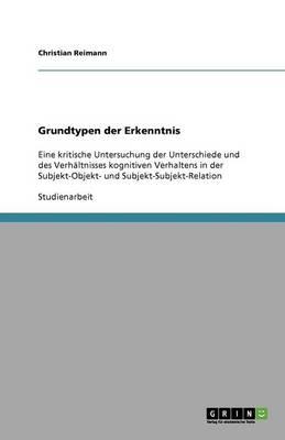 Grundtypen Der Erkenntnis (Paperback)