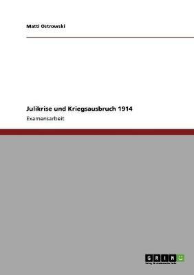 Julikrise Und Kriegsausbruch 1914 (Paperback)