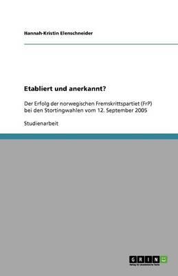 Etabliert Und Anerkannt? (Paperback)