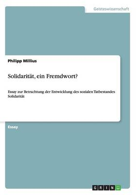 Solidaritat, Ein Fremdwort? (Paperback)